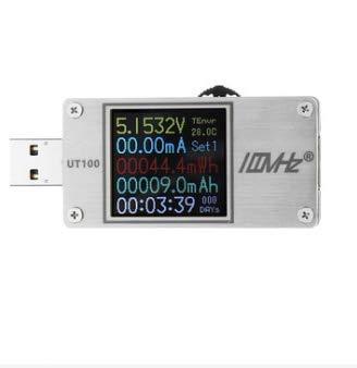 DyNamic UT100 USB-Multifunktions-CNC-Tester Dual-USB-Power-Monitor QC2.0 QC3.0 PD TypC PD Ladespannung 1,44 Zoll HD-Farbbildschirm - Edelstahl