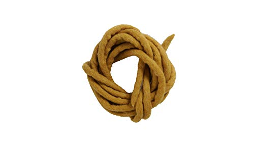 Madacha - Cordoncino/corda in feltro naturale, 100% pura lana, 160 cm +/-5 cm