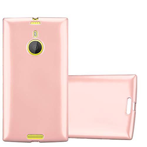 Cadorabo Hülle für Nokia Lumia 1520 - Hülle in METALLIC Rose Gold – Handyhülle aus TPU Silikon im Matt Metallic Design - Silikonhülle Schutzhülle Ultra Slim Soft Back Cover Case Bumper