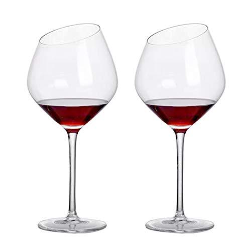 Premium Crystal - Degustazione di vini Grandi bicchieri da vino, bicchieri da vino rosso Set di 2, vetro di cristallo a stelo lungo personalizzato indistruttibile grande vetro di vino rosso, moderno c