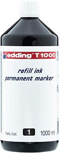 Edding 877174 - Frasco de tinta para rotulador, 1000 ml, color negro