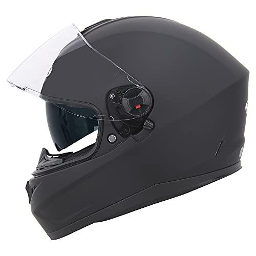 Zorax Hunter Matt Black L (59-60cm) Double Visor Full Face Motorbike...
