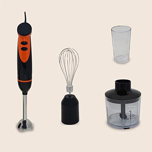 GGKLY 4-in-1 staafmixer, multifunctionele mixer, met 2 snelheden instelbaar, afneembare roestvrijstalen mixvoet, 300 W, zwart