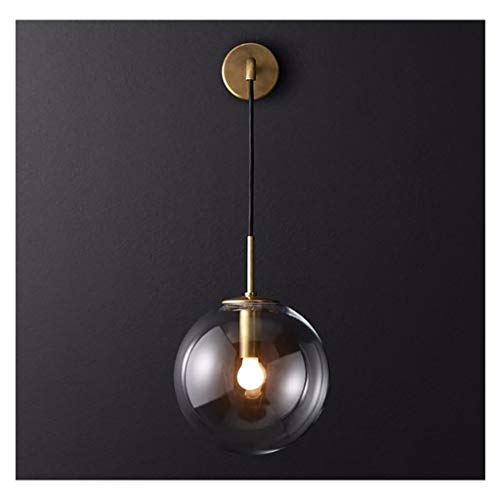 QTDH wandlamp, vintage-stijl, wandlamp van glas, Scandinavische bollen, LED-wandlamp voor lampenkap van industrieel glas