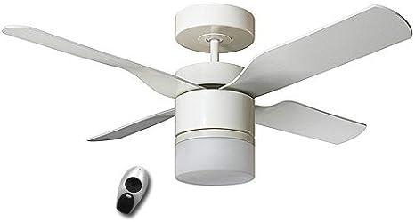 Unbekannt Ventilador de Techo MultiMax, 132cm, con Mando a Distancia Color (Estructura): Blanco Lacado, Color (alas): Blanco Lacado/Roble Claro, Características: con Mando a Distancia
