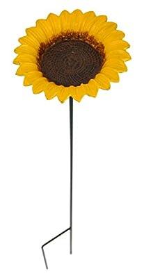 Green Jem Sunflower Cast Iron Bird Feeder, Yellow, 14x14x74 cm from Green Jem