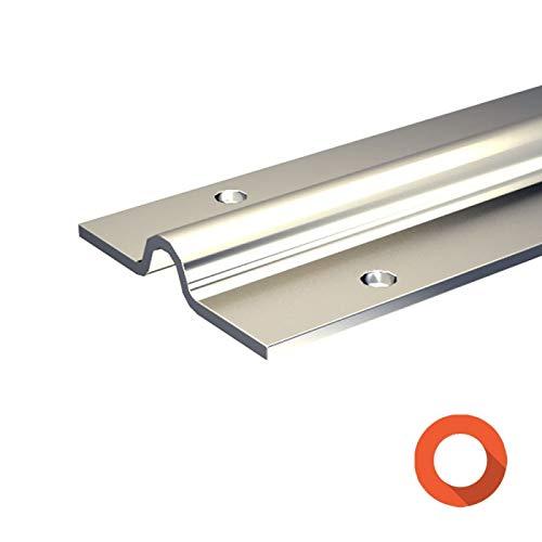 Laufschiene, 195 cm aus verzinktem Stahl, Typ SLID'UP 1600-U15, für bodenläufige Schiebetore bis 400 kg, zum Anschrauben, für SLID'UP 1600 Schiebetorbeschlag