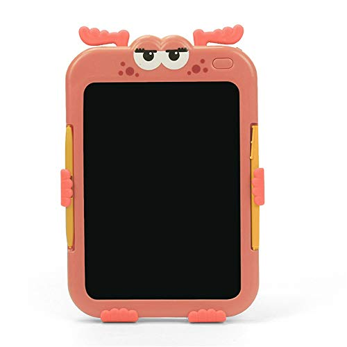 Lightweight LCD Writing Tablet LCD Drawing Board Children's Doodle Board Color Writing Board Draft Drawing Board Boy and Girl Toys Learning Tools Easy to Use ( Color : Pink , Size : 6.2 inches )