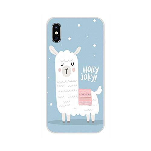 Lama Llama Alpacas - Carcasa para iPhone X XR XS 11Pro MAX 4S 5S 5C SE 6S 7 8 Plus iPod touch 5 6