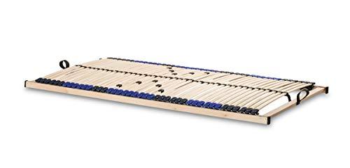 snoozo Lattenrost Superflex zur Selbstmontage/Lattenrahmen - 42 Federleisten und 5-fache Härteverstellung - geeignet für alle Matratzen 120 x 200 cm