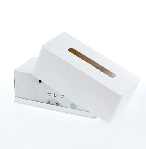 山崎実業 タワー 厚型対応ティッシュケース ホワイト 1個