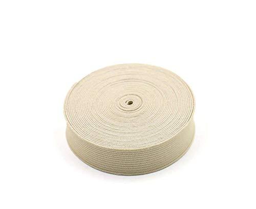 18 mm, elastisch koord, kleur met hoge elasticiteit, elastisch koord, plat koord, dunne elastische kleermakerij, tailleband, hoofdbanden-Rijst kleur-18mm-5Meter