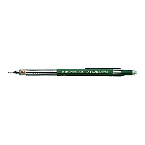 Faber-Castell Tk-Fine VARIO L - Portaminas (B), color verde, 1 mm