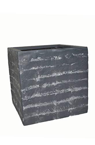 Pflanzkübel Wall L30x B30x H30cm aus Fiberglas wie Orig. Mauergestein, Blumenkübel, Pflanztopf, Pflanzgefäße