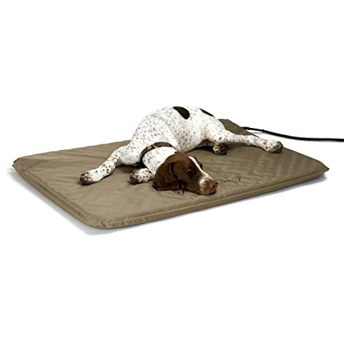 K&H Pet Products Lectro-Soft Outdoor Heated Pet Bed Tan Large 25 X 36 Inches