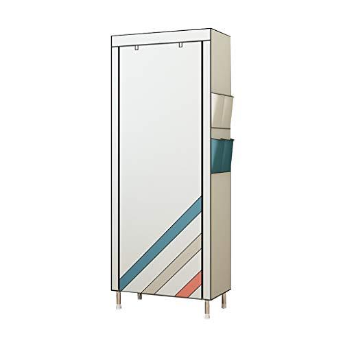 YIXIN2013SHOP Zapatero de varias capas para el hogar, zapatero simple con cubierta antipolvo no tejida, necesita ser montado, estante de almacenamiento apilable (color: blanco, tamaño: L)