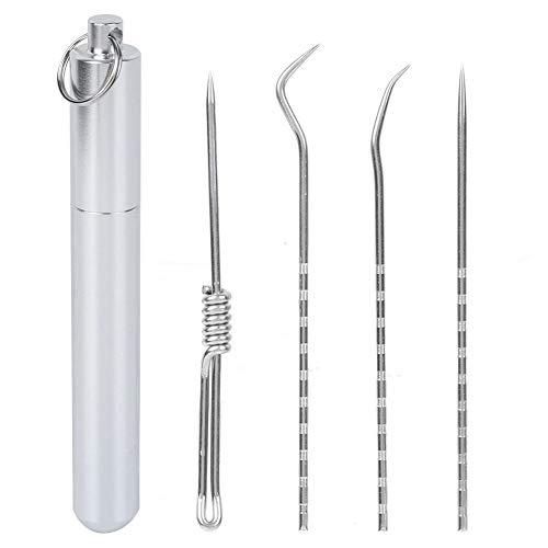 Zilverkleurige metalen tandenstoker, duurzame metalen tandenstokerhouder, voor dagelijks meubilair Hotel Restaurant Home