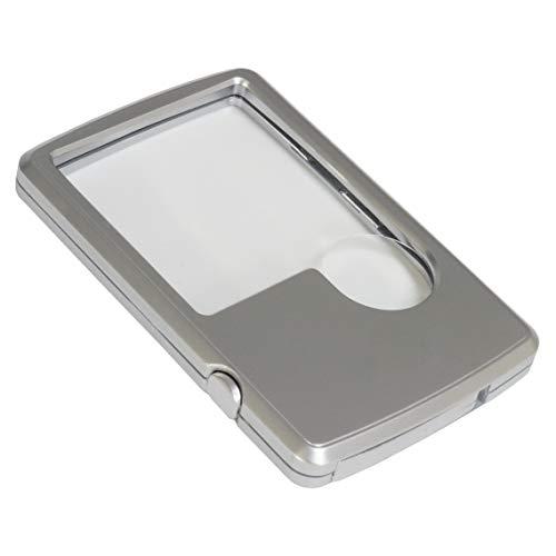 カード型ルーペ LEDライト付き コンパクト 携帯 拡大鏡 3倍 6倍 本 新聞 収納ケース付き PR-LOUPECARD