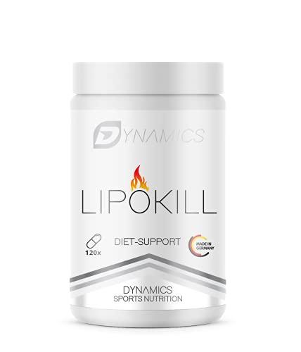 Abnehmen Tabletten schnell | Fatburner | Stoffwechsel erhöhen | Appetitzügler | Fettverbrenner | Gewicht reduzieren | 120 Kapseln | Dynamics LipoKill