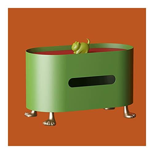 zxb-shop Caja de Tejido Multifuncional Hierro Forjado Caja de Tejido Creativo Caja de Estar para el hogar Mesa de Comedor Bombeo Caja de Tejido Caja de Almacenamiento (Color : Green)