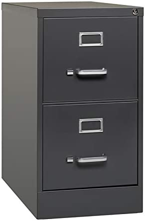 Gris anthracite 2 tiroirs avec poign/ées 31x31x15cm Rangement de bureau en carton