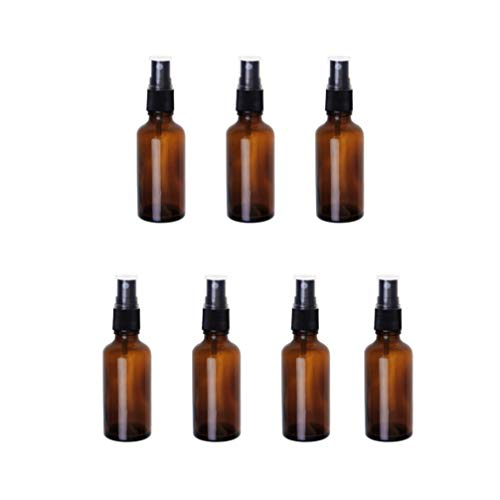 Beaupretty 7Pcs Empty Spray Bottle Alcohol Empty Refillable Bottle for Essential Oils Aromatherapy Water Liquid Makeup Lotion Emollient 30ml