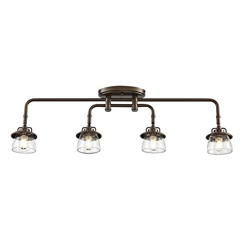 How far apart should pendant lights be over an island in the kitchen:Specialty Bronze Dimmable Fixed Track Light Kit