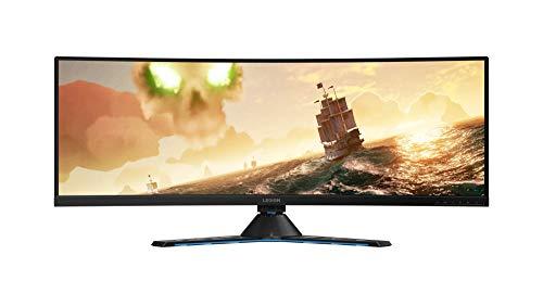 """Lenovo Legion Y44w - Monitor Gaming de 43.4"""" UHD (144 Hz, 4 ms, HDMI + DP + USB Type-C, curvo, FreeSync, ajustable en altura) negro"""