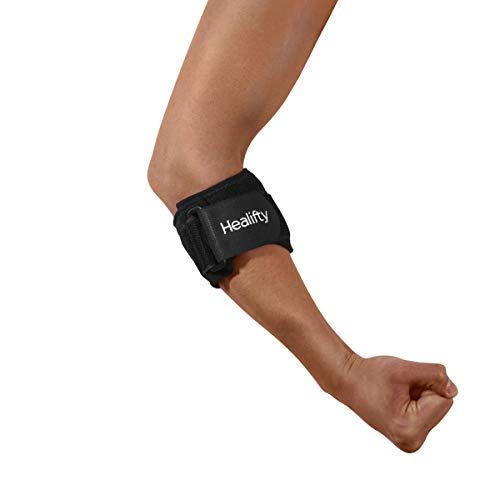 Healifty Coderas Epicondilitis - 2PCS Codera de Tenista, Codera Tendinitis para Artritis Ajustable, Lesiones Deportivas, Codo de Golf Alivio del Dolor