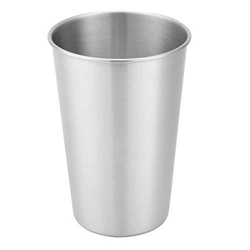 Kadimendium Taza de Cerveza Reutilizable Vasos de Beber de Metal Taza de Agua Que acampa para la Comida campestre casera al Aire Libre