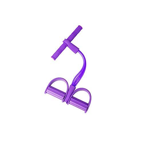 ONEVER Multifunktions Spannseil, Spannseil Übung 4 Schlauchwiderstandsbänder Fußpedal Übungsgerät Fitness Sit-up Übung Seil ziehen, Bodybuilding-Expander zum Sitzen für Heim-Fitnessgeräte