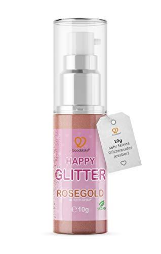 GoodBake Happy Glitter Rosegold Glitzerpuder Glitzerstaub essbarer Glitzer Kupfer Rotgold Copper Bronze