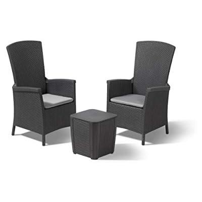 Keter Vermont Rattan Reclining Chair
