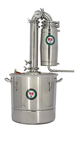 Nueva máquina de elaboración de cerveza pequeña equipo de cerveza para el hogar licor vaporizador aceite esencial, hidrosol, Brandy, kit de destilación de vino (50L)