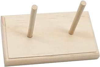 XiaoG Houten Draad Stand Rack Houdt Organizer, 2 Spoel Kegel Borduurwerk naaien Opslaghouder (Color : Wooden)