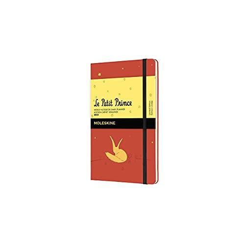 Moleskine El Principito Zorro - Diario semanal de 12 meses con tapa dura, 2022, formato de bolsillo 9 x 14, color naranja coral