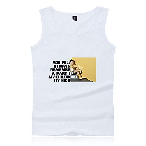 Cameron Boyce Camiseta Tank Top Ocio Damas algodón Moda Streetwear Chaleco sin Mangas Negro Azul.