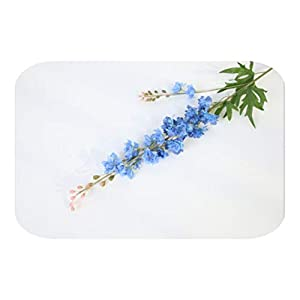 MEIshop 2 Fork 80 cm Delphinium Artificial Flower Orchid Cloth Silk Fake Flowers Branch Wedding Party Home Garden DIY Decoration-Blue-