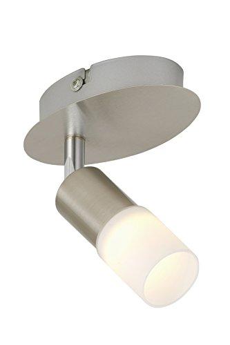 Briloner Leuchten 2875-012 Applique LED, plafonnier, Spots, Lampe Salon,orientable, Métal, Intégré, 5 W, Nickel Mat, 13 x 7.5 x 7.8 cm