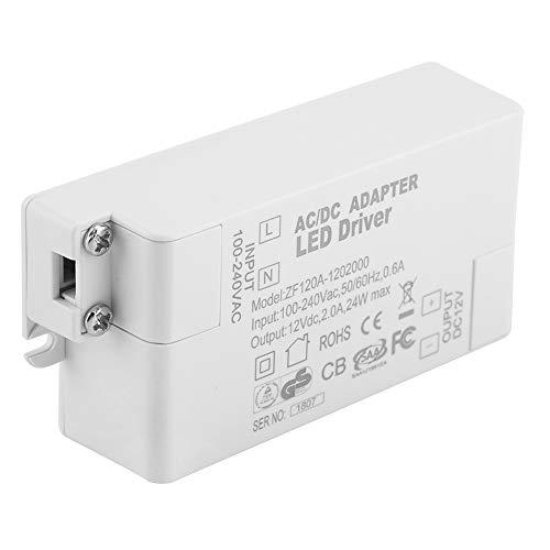 Alianthy Controlador de LED - AC 100-240V a DC 12V SMD Transformador de Potencia del Interruptor del Controlador de LED para Tira de luz LED(24W)