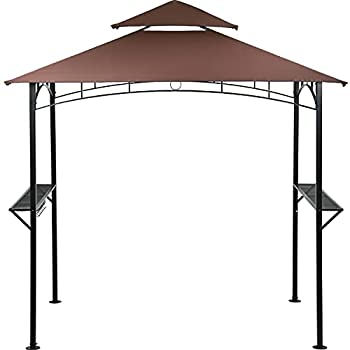 Grill Gazebo,8 x 5  BBQ Canopy,Double Tiered Grill Canopy Barbecue Gazebo for Outdoor Patio Backyard