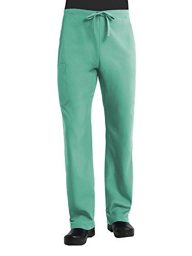 Red Panda Maevn - Pantalón básico unisex, Verde quirúrgico, Large Alto