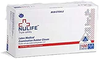 Generic Non Sterile Powdered Latex Medical Examination Gloves (White, Medium) - 100 Pieces