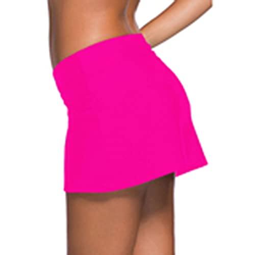 BIBOKAOKE Bañador para mujer, bañador de verano, falda corta, bikini, falda, traje de baño, traje de baño, falda de playa, informal, pantalones de natación, Pink13., XXL