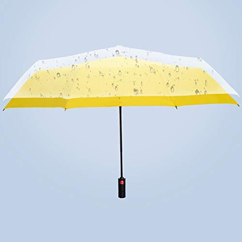 Men's Bescherming Tegen De Zon Bedrijf Parasol, Anti-Storm Volautomatische Paraplu Met Sterk Waterafstotend En Rood Fibre Skelet [10 Paraplu Bot],Yellow