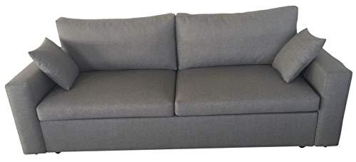 PM Sofa Schlaffunktion Bettfunktion Couch Polstergarnitur Wohnlandschaft Polstersofa Couchgranitur - Lara (Puderrosa) (Grau, Velwet)