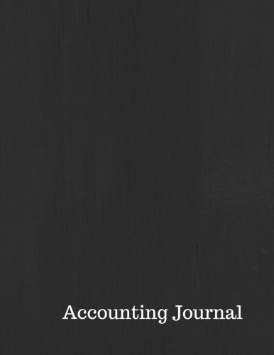 Accounting Journal: Account Entry : General Journal Notebook. Columns For Date, Description, Reference, Credit, And Debit. Paper Book Pad with 100 Record Pages 8.5 By 11