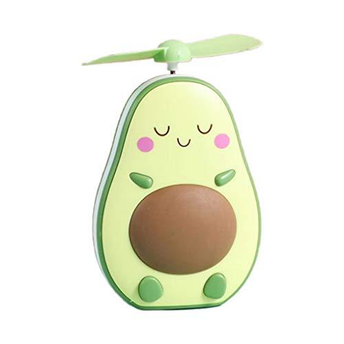 MAGELIYA Mini Ventilador de Enfriador de Aire de Mano con Forma de Aguacate Portátil con Espejo de Luz de Relleno USB