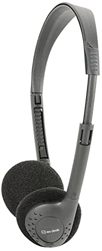 AV:Link   Lightweight Stereo Headphones   Bl