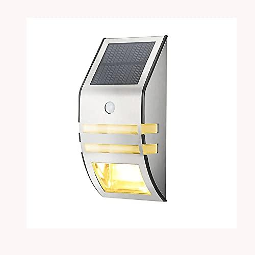 Intelligent Solar Light Sensor Parelle, Lampada da Parete in Acciaio Inox + Accessori per ABS, PC Materiale Paralume, Lampade all'aperto IP65 Approvini Impermeabili per Cortile, Giardino